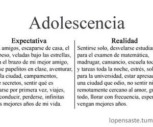 adolescencia, reality, and frases image