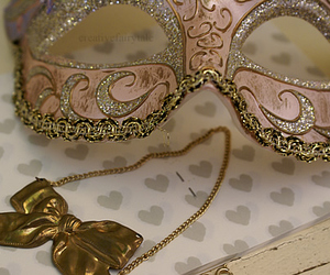 mask, bow, and pink image