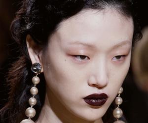 beauty, earrings, and makeup image