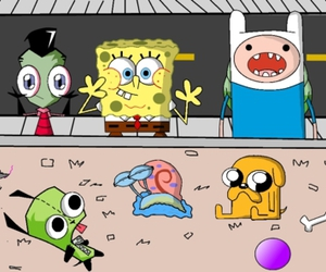 adventure time, finn, and spongebob image