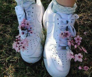 cool, sneakears, and flowers image