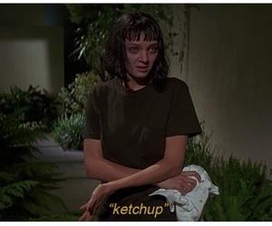 pulp fiction, movie, and ketchup image