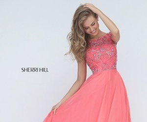 sherri hill 50849, chiffon princess dress, and beaded dress 2017 image