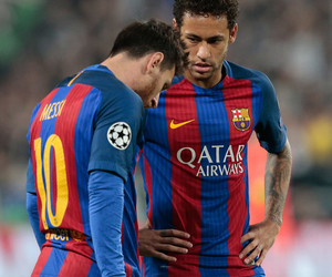 Barcelona, messi, and neymar image