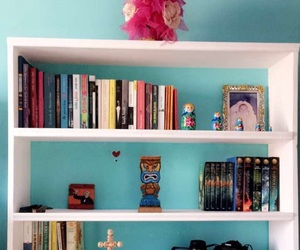 bookcase, books, and percy jackson image