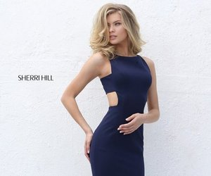 sherri hill 50741 and cutout fitted dress image