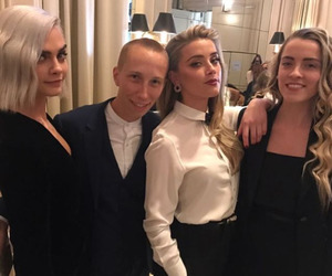 amber heard and cara delevingne image