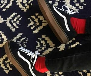 black, skate, and fashion image