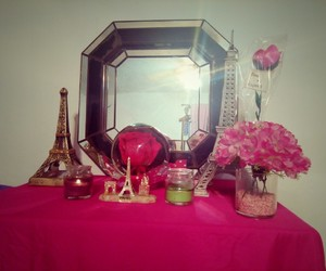 eiffel, torre, and rosas image