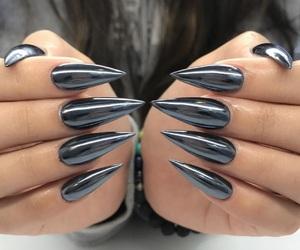 nails, black, and chrome image
