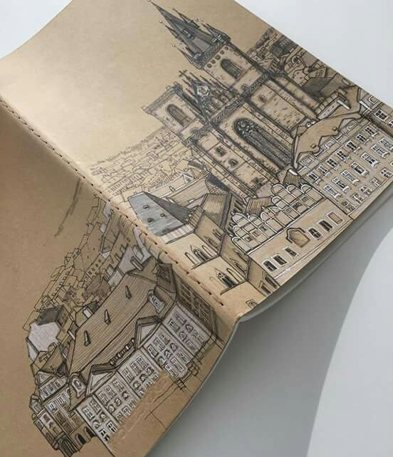 artistic, book, and city image