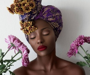 beauty, flowers, and melanin image