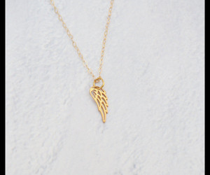 feather necklace, guardian angel, and wing necklace image