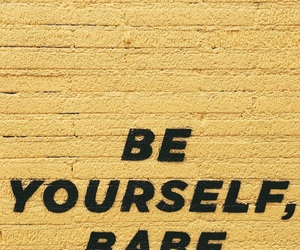 art, babe, and be yourself image