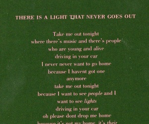 the smiths, Lyrics, and there is a light that never goes out image