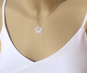 flower necklace, lotus flower, and lotus necklace image