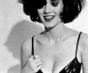 winona ryder, black and white, and winona image