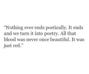 beautiful, poetically, and blood image