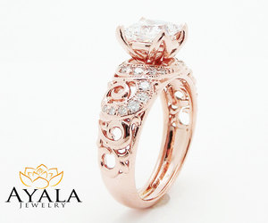 diamond ring, etsy, and engagement ring image