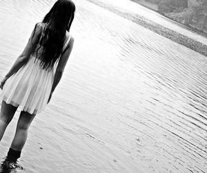 black and white, dress, and hair image