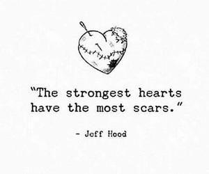 quotes, scars, and heart image