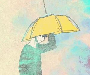 couple, umbrella, and wallpaper image
