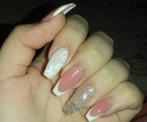 beautiful, french, and nails image