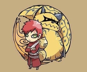 naruto, gaara, and shukaku image