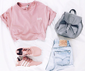 jeans, pink, and cute image