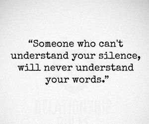 silence, understand, and words image