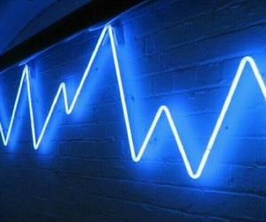 neon, light, and blue image