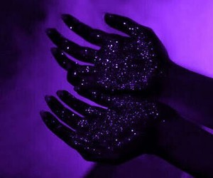 hands, black, and stars image