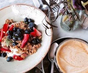 food, girl, and coffee image