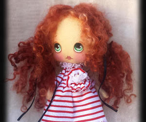 doll, goth doll, and fabric doll image