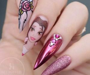 nails, nailsart, and pink image