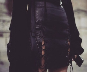 black skirt, vogue, and fashion image
