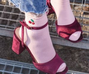 cherry, heels, and socks image