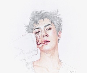 exo, sehun, and art image