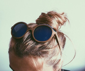 sunglasses, hair, and summer image