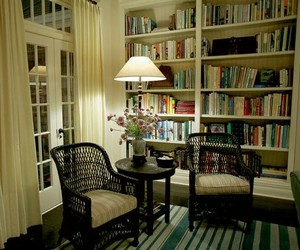 farmhouse style, bookshelves, and home decor image