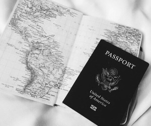 travel, passport, and map image