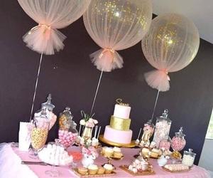 balloons, birthday, and cake image