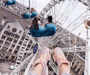 travel, friendship, and shoes image