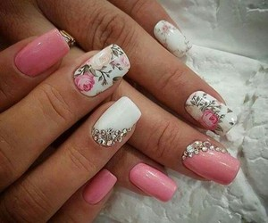 flower, nails, and spring image