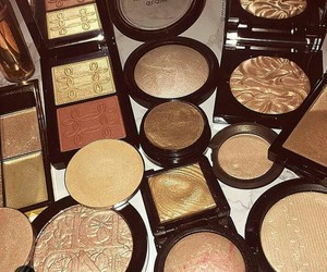 gold, heaven, and makeup image