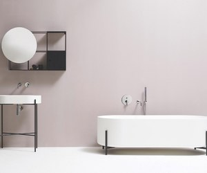 bath, bathroom, and chic image