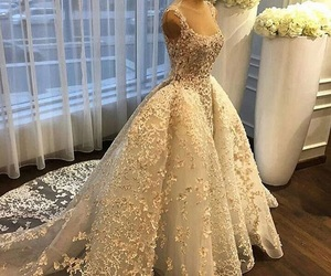 fashion, wedding dress, and bride bridal image
