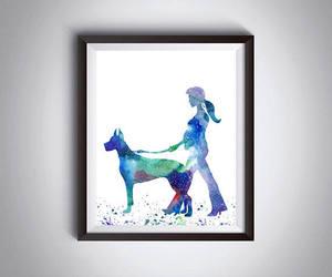 dog walk, etsy, and dog print image
