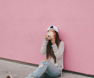 pink, tumblr, and style image