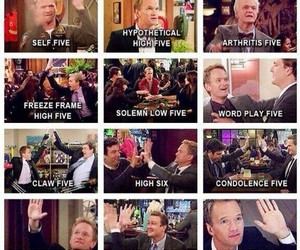 Barney Stinson, bros, and high five image